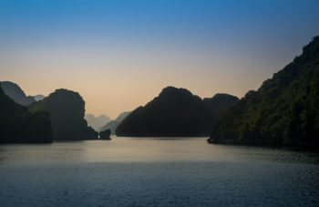 Halong Bay, Vietnam during blue hour