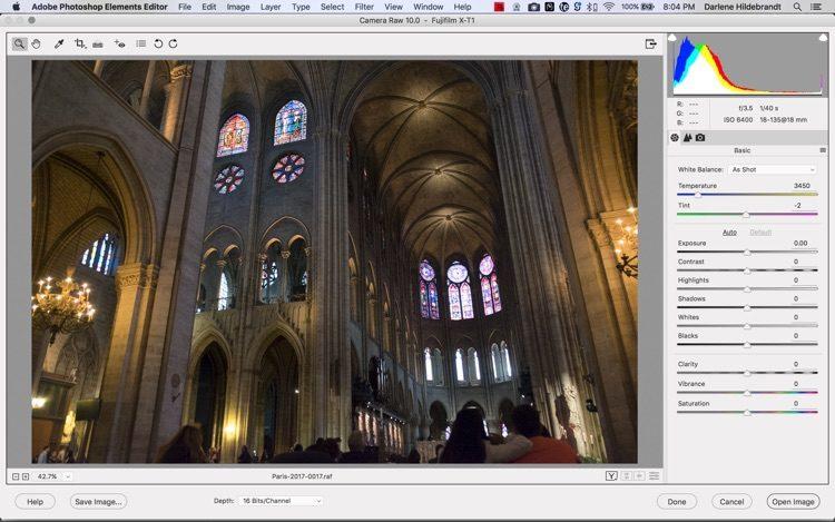 Adobe photoshop elements interface screenshot
