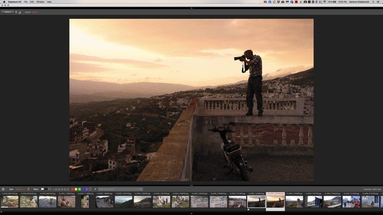example of Second monitor feature in Exposure X3 image editing tool