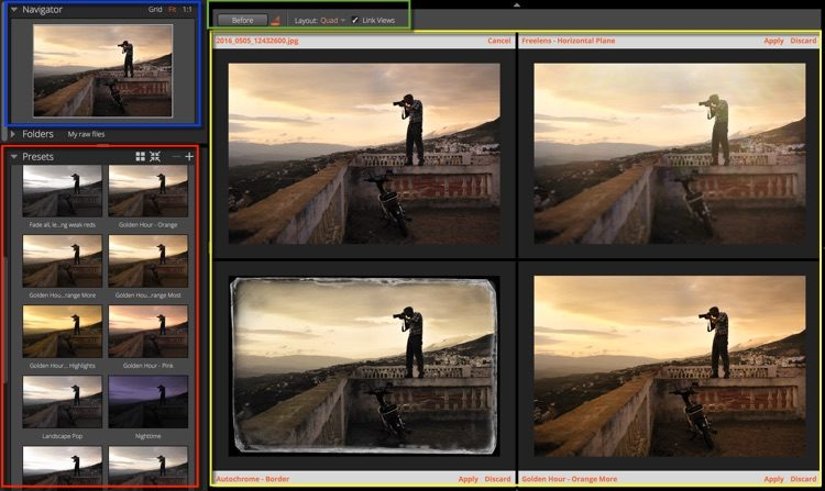 Presets panel screenshot