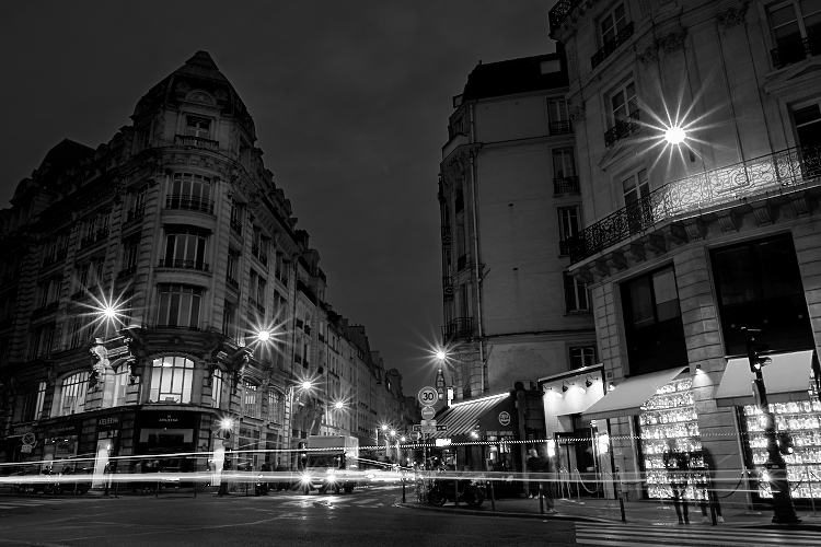 Paris in black and white example photo processed with Exposure X3 photo editor