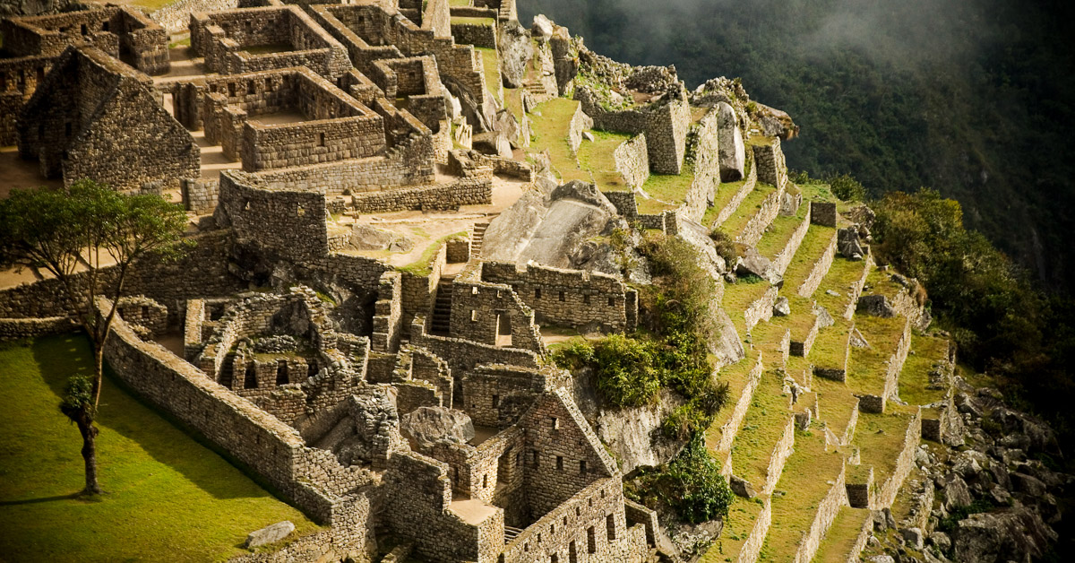 On this photo tour of Peru, we'll visit Machu Picchu as seen in this photo from above