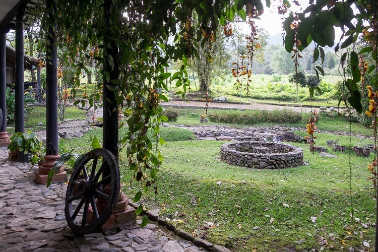 courtyard at a secret location in Colombia