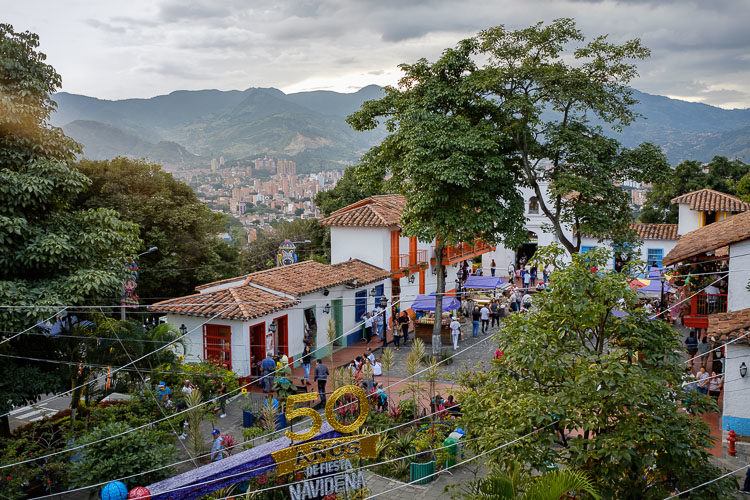 View of medellin from Pueblito Paisa