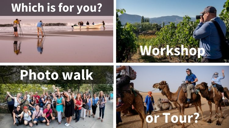 Workshop, Tour, or Photo Walk – Which is Right for You?