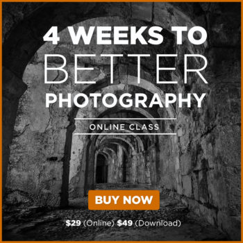 beginner photography classes - 4 weeks to better photography