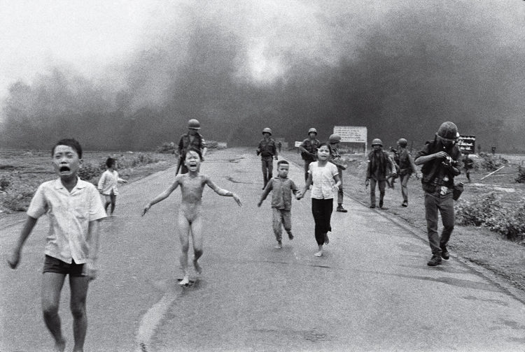 Famous photographer Nick Ut's photo showing the horror of the Vietnam war