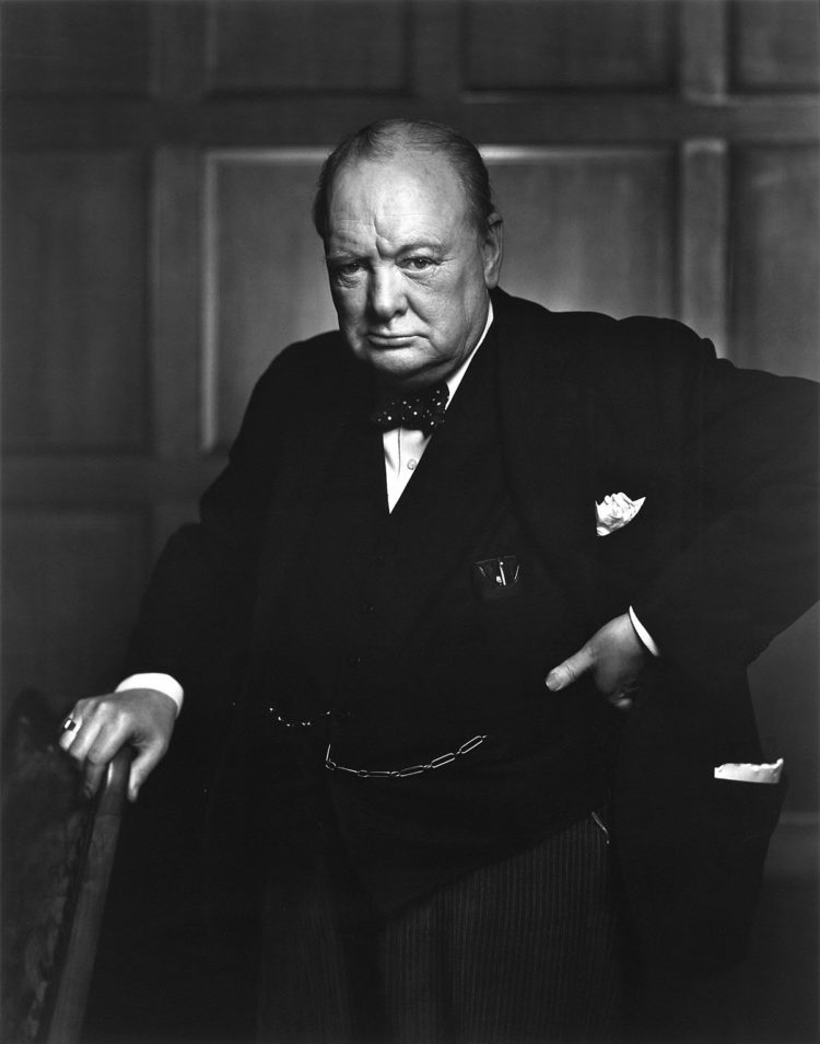 Yousuf Karsh's now famous photograph of Winston Churchill in 1941