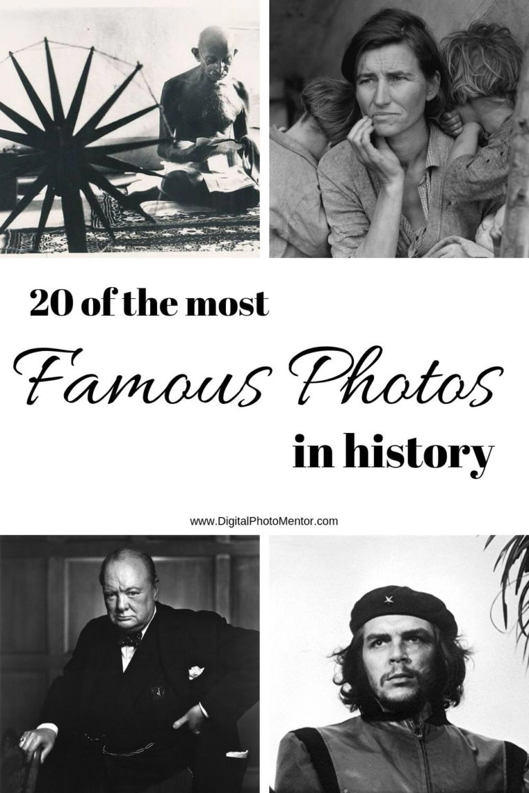 Famous historical photos by photographers since the invention of the camera.  Pictures of life, children and famous people