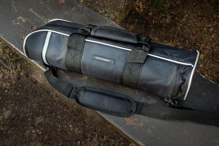 Tripod Review - the K&F Concept TC2534 Carbon Fiber Tripod - carry bag