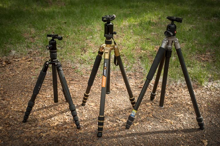 three different types of tripods