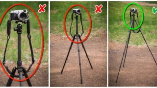 tripod mistakes - raised center column