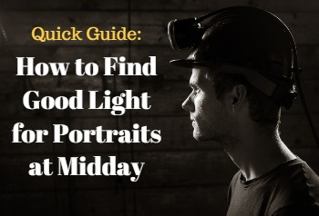 how to find good light for portraits at midday