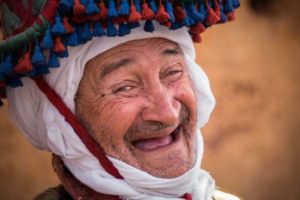 Berber man in traditional clothing Morocco
