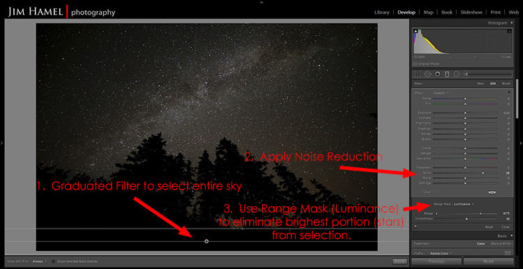 screenshot of lightroom range mask