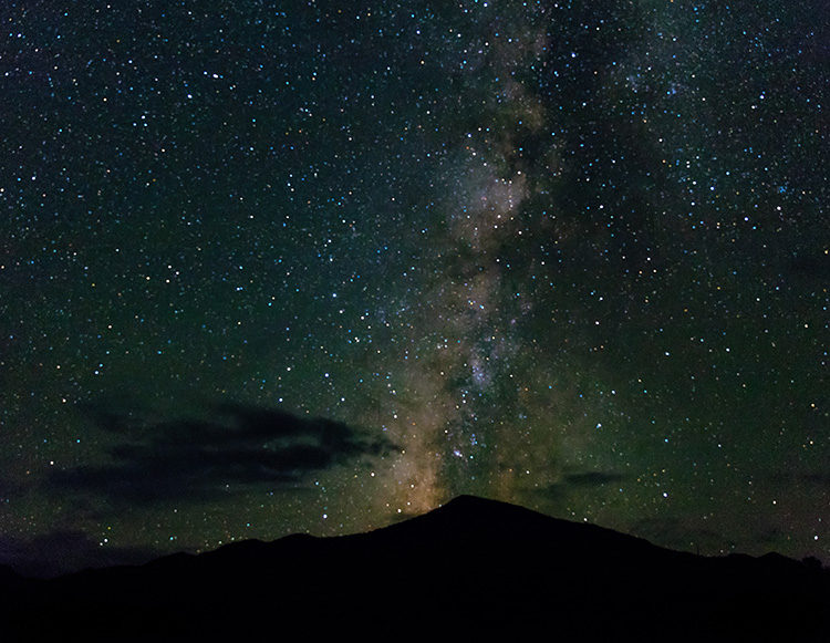 the milky way over chisos basin