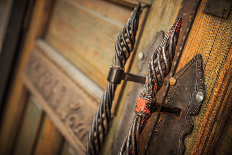 Iron door handles - photography challenge