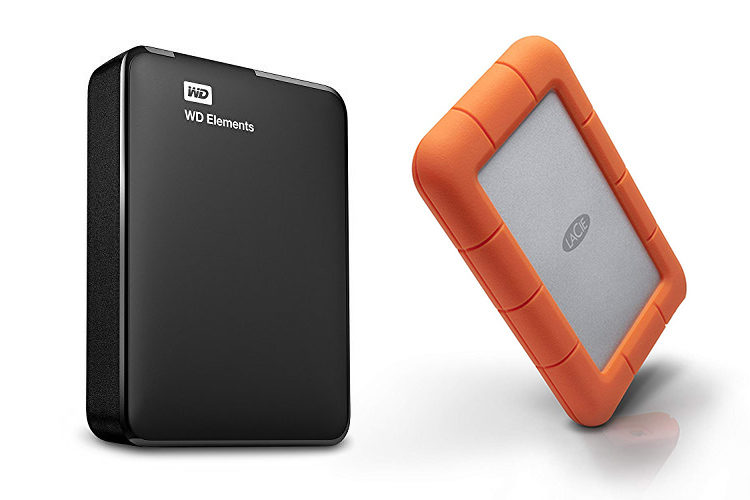 external hard drives for portable photo storage when traveling