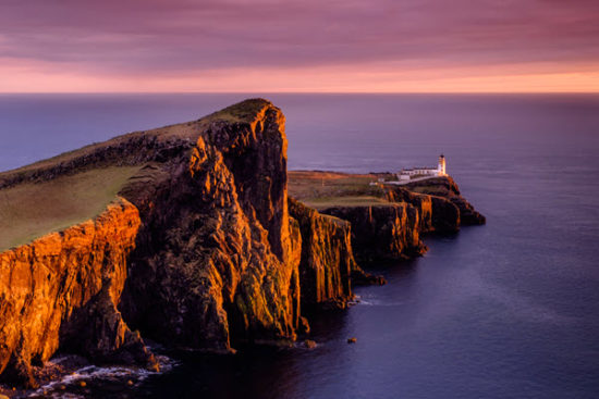 neist point lighthouse at Isle of Skye Scotland