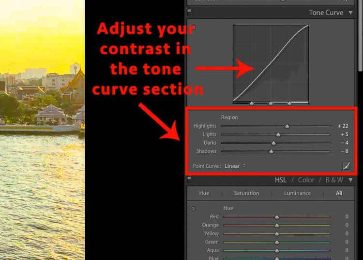 contrast sliders for lightroom