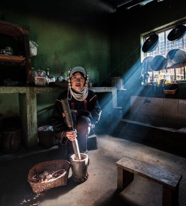 Akha woman, Wan Pin Village, Shan State, Myanmar
