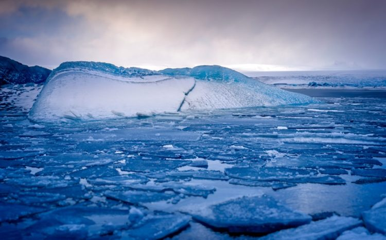 My best shot of the glacial lagoon in Iceland was when I was uncomfortable