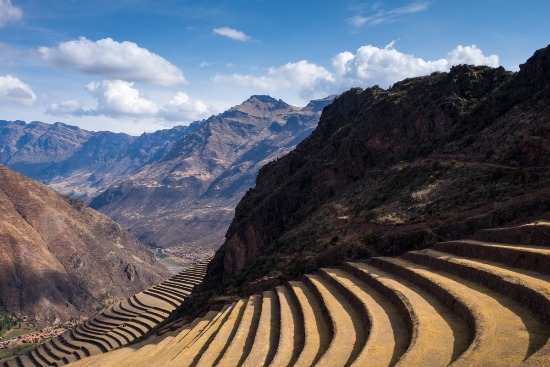 terraced valley in Peru