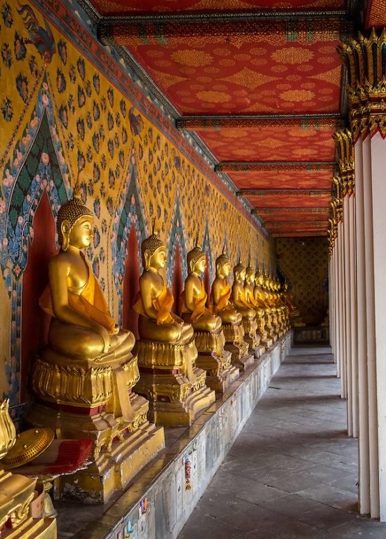 BANGKOK, THAILAND - CIRCA SEPTEMBER 2014: Inside hallway in  Wat Arun, a  popular Buddhist temple in Bangkok Yai district of Bangkok, Thailand, on the Thonburi west bank of the Chao Phraya River