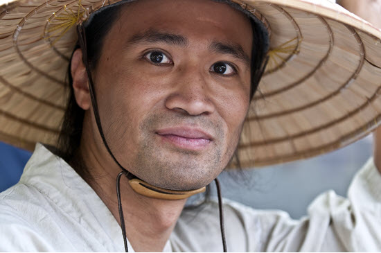 thai man in hat