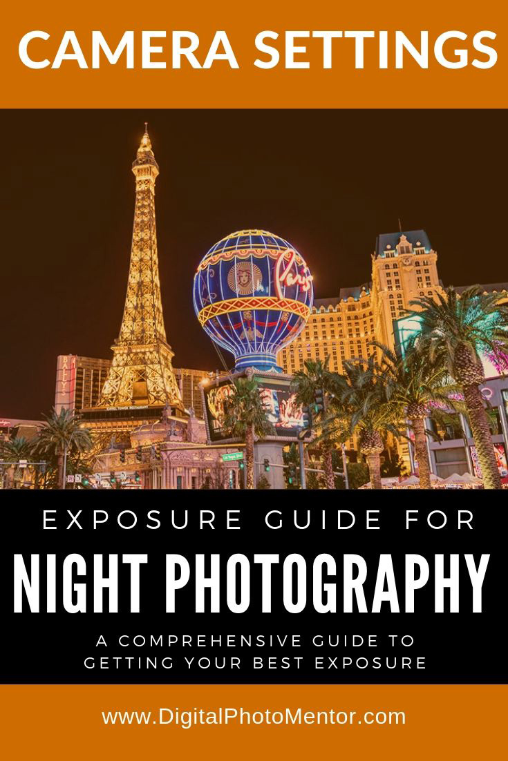 Night photography camera settings tutorial for getting your best exposures when you're shooting at night or after the sun goes down.