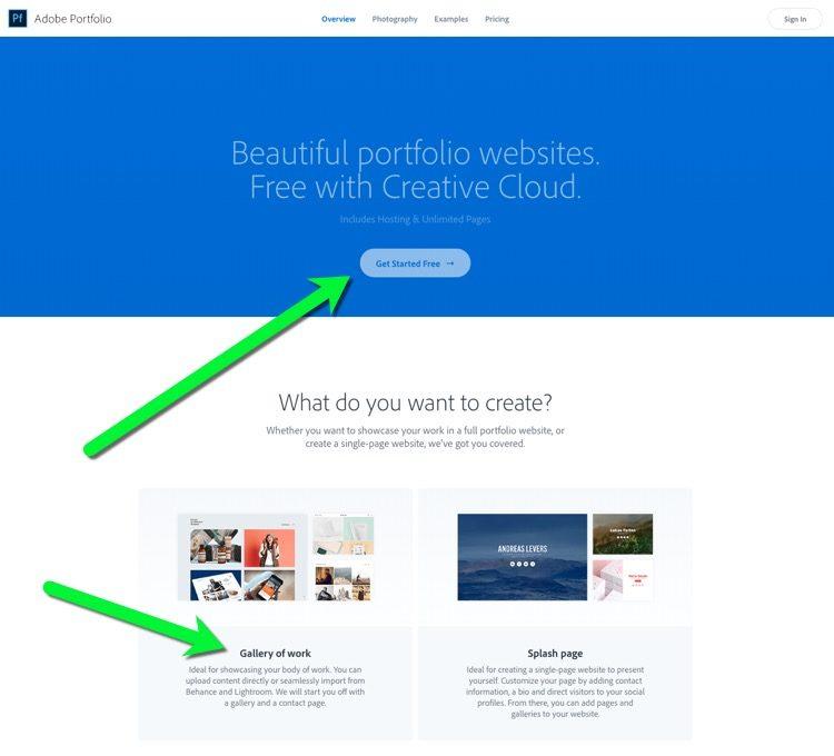 Adobe Portfolio site