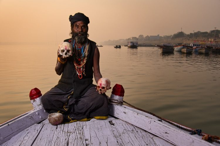 holy man Varanasi India - How to Create a Vintage Look with a Texture Overlay