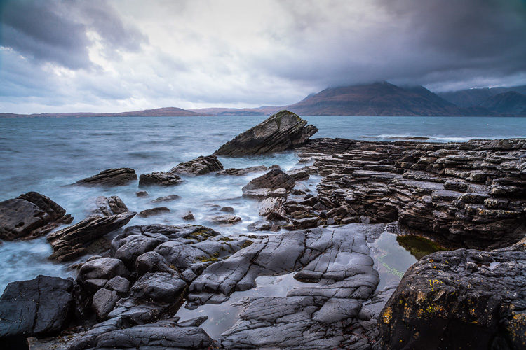 Elgol Beach with Cuillin mountain ranges in the background, Isle of Skye, Scotland