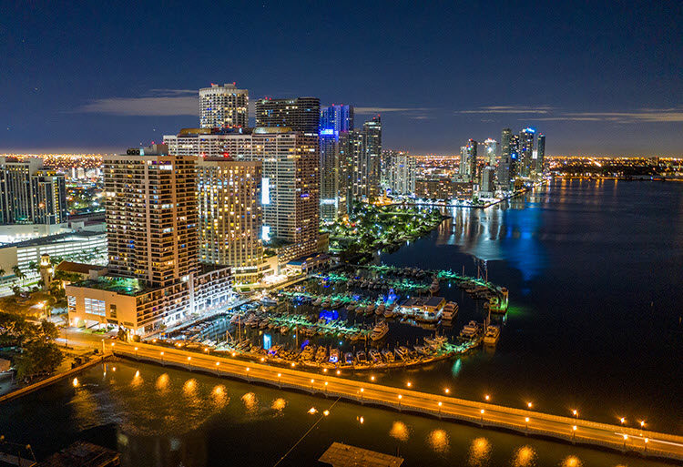 Miami, Florida. Shutter Speed: 1 second; Aperture: f/2.8; ISO 400.