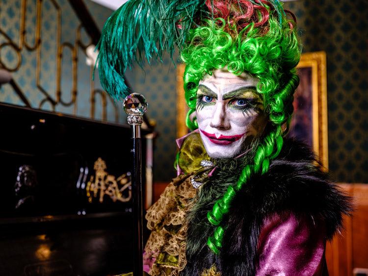 Fujifilm GFX 50S joker like character Venice Italy