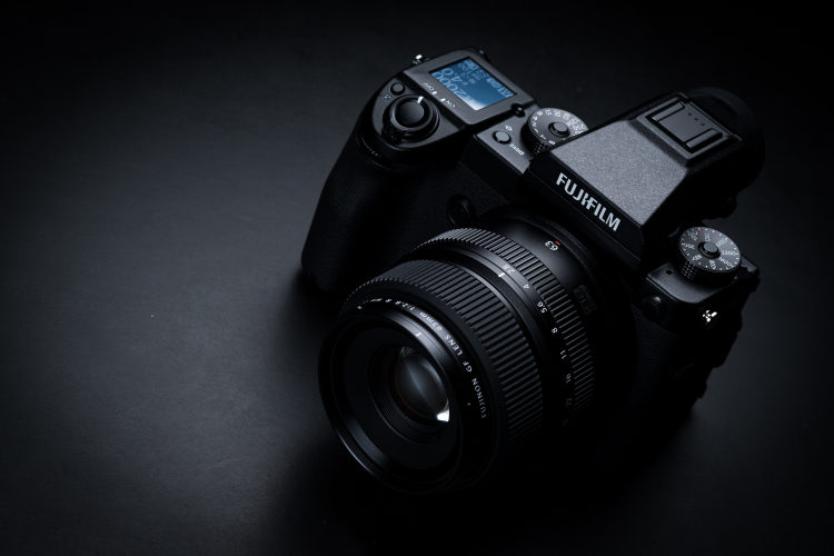 Fujifilm GFX 50S camera with lens
