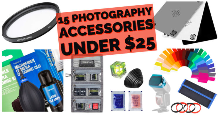 15 photography accessories under 25 dollars