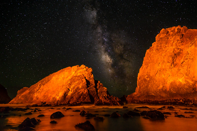 Big Sur California | Milky Way over the beach
