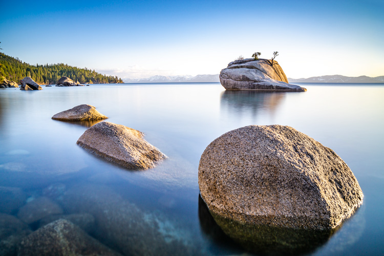 Bonsai Rock, Lake Tahoe | Sunset