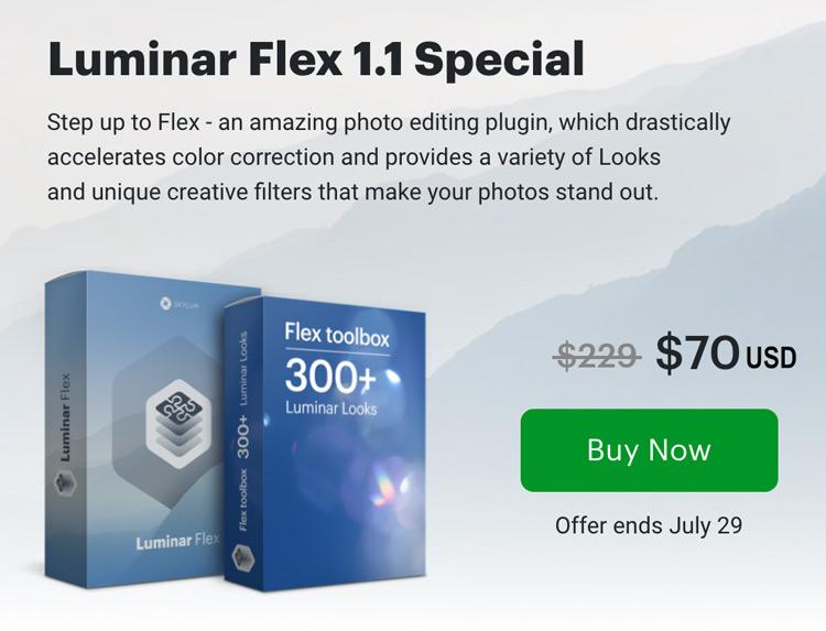 Luminar Flex 1.1 Plugin from Skylum special offer