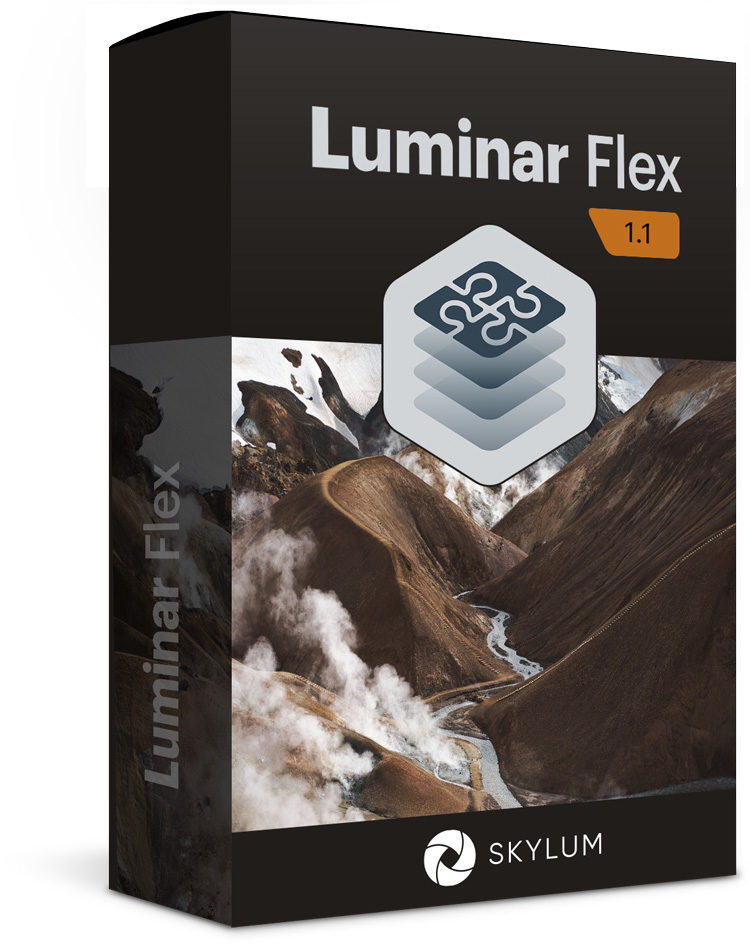 Luminar Flex plugin product box cover photo