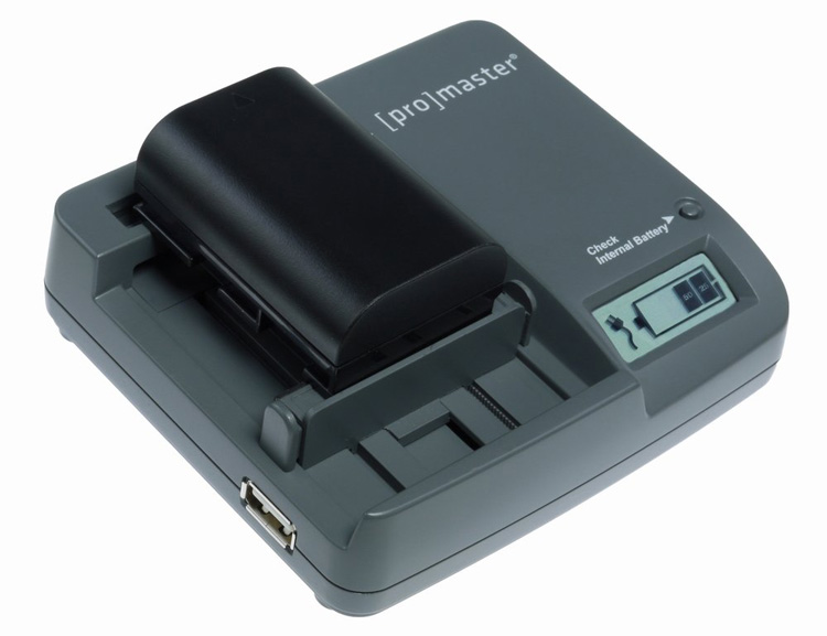 promaster universal battery charger accessory.  Great for travelers too as it doubles as a mobile device charger.