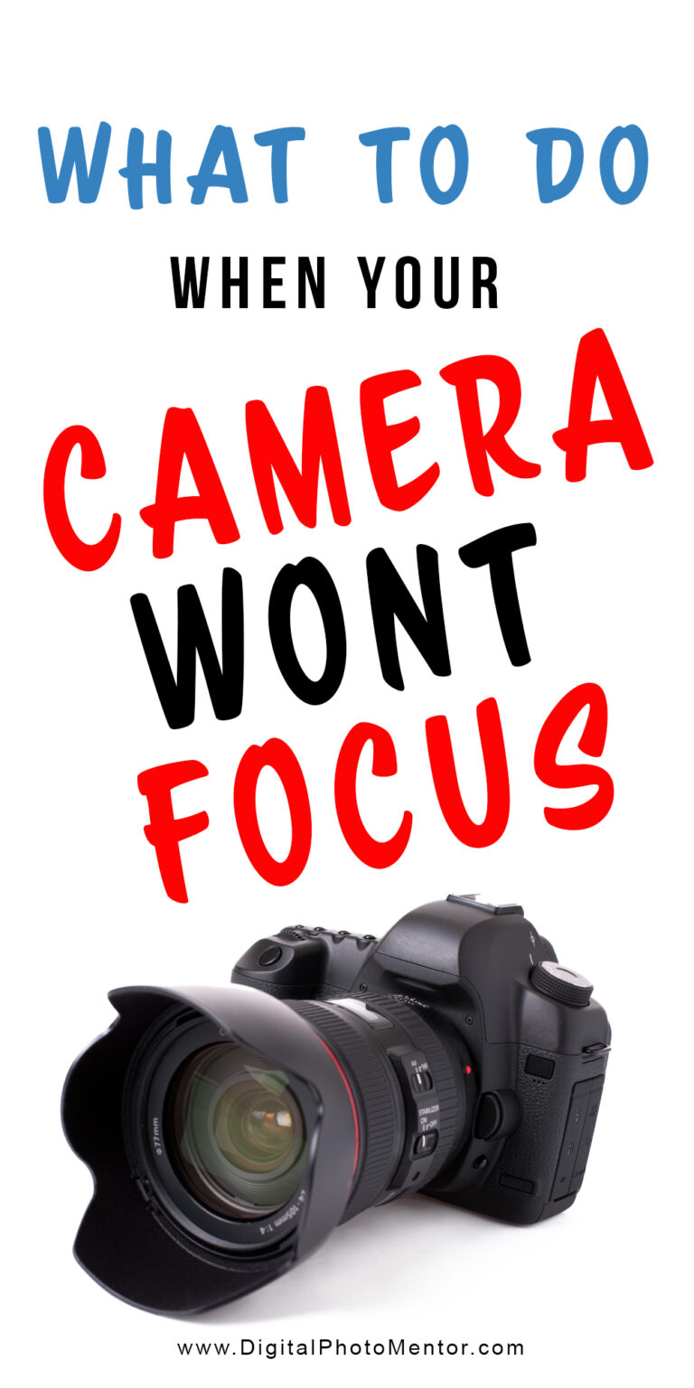 what to do when your camera wont focus