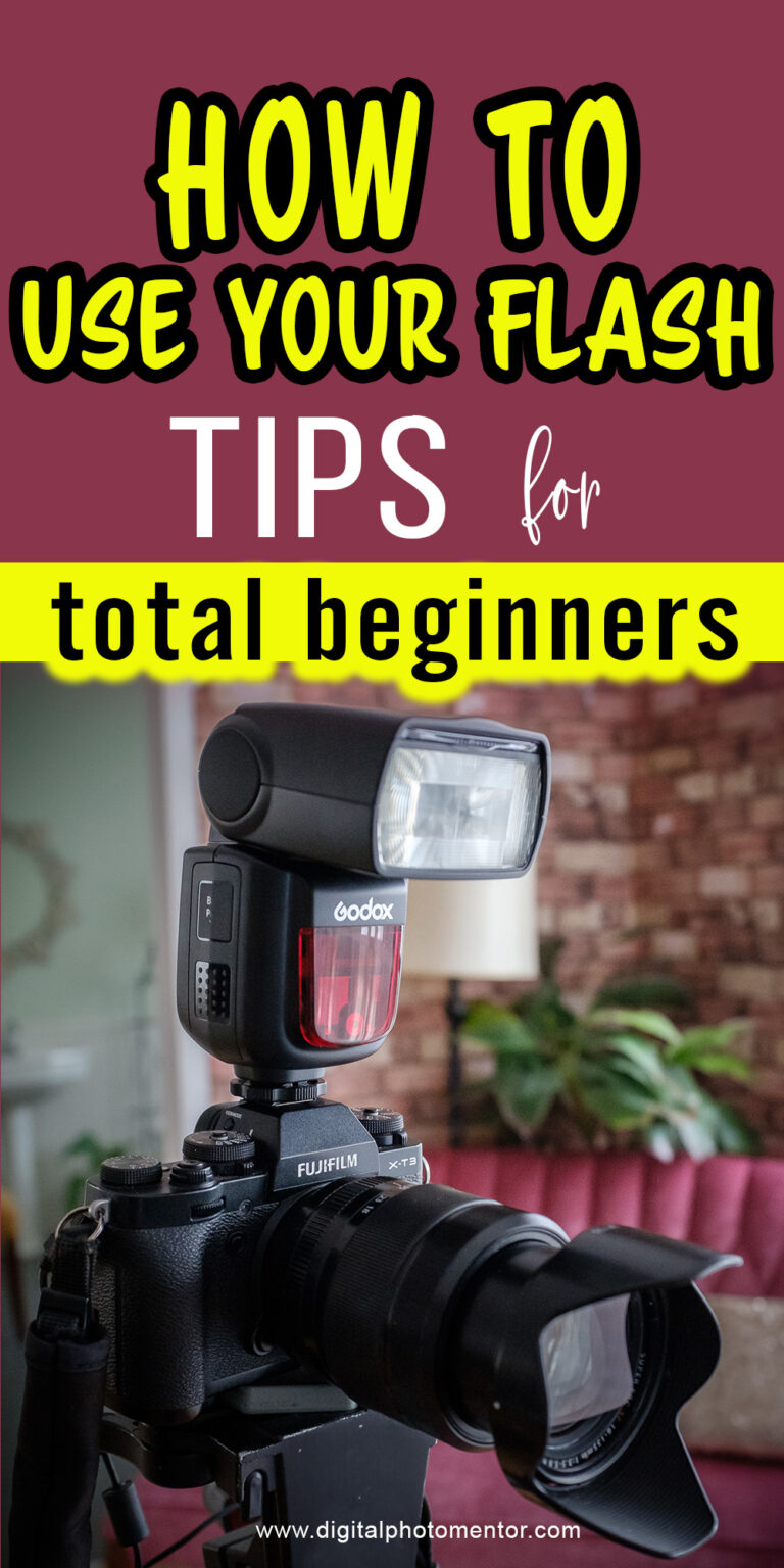 Learn how to use your flash. Beginner flash photography tips for starting to use an on-camera flash for photos. Flash photography tutorial with examples.