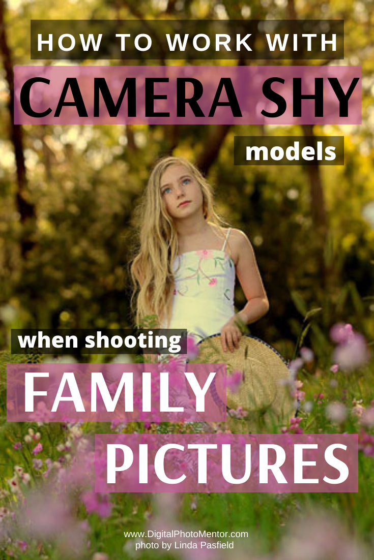 how to work with camera shy subjects at a family photo session