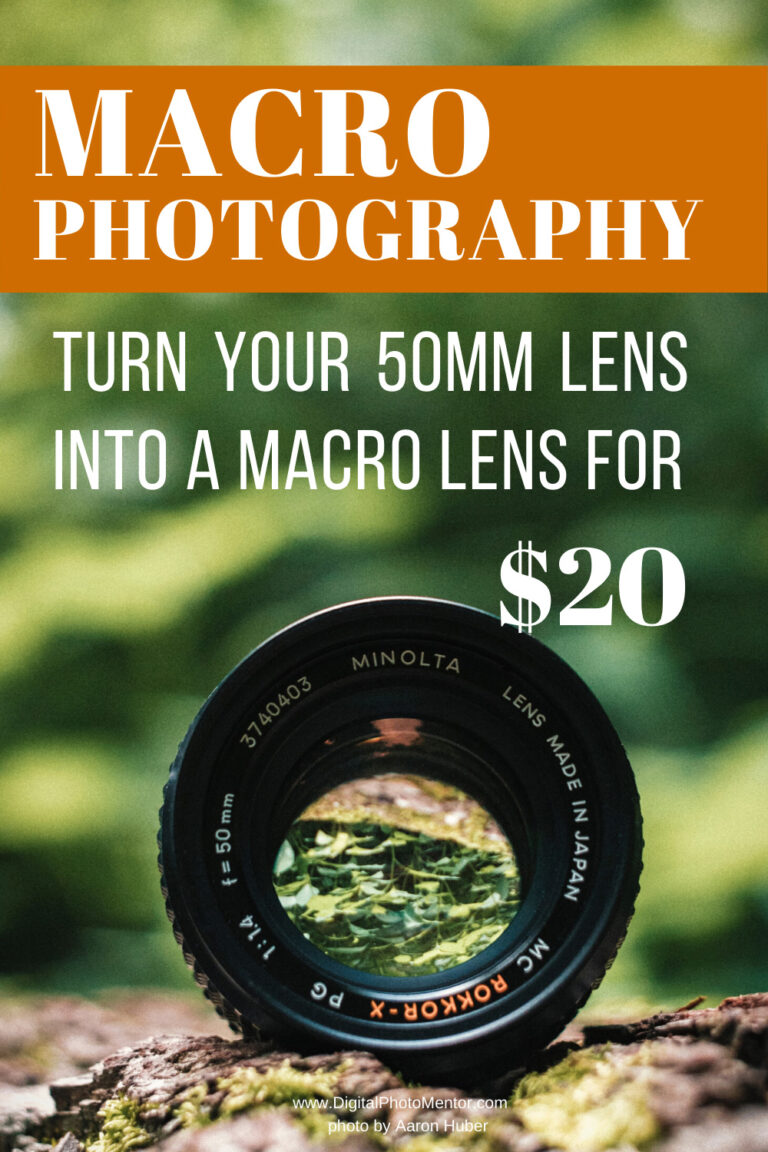 macro photography lens tips for turning a 50mm lens into a macro photography lens. Perfect for doing macro photography without a macro lens