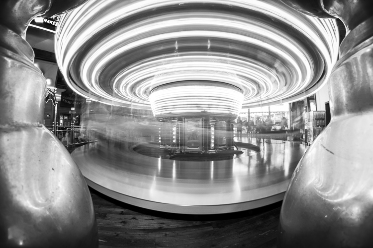 black and white long exposure using the rokinon fisheye lens