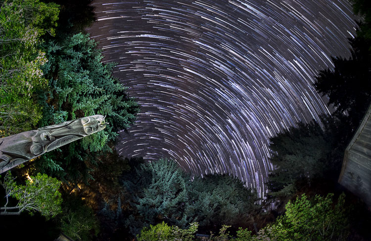 fisheye lens example of astrophotography star trails