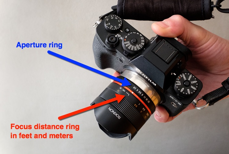 focus and aperture settings example