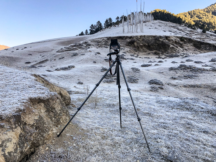a sturdy tripod is critical when outdoors photographing landscapes on uneven or rugged terrain